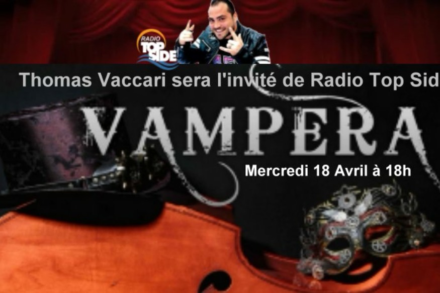 Thomas Vaccari en direct sur Radio Top Side  Mercredi 18 Avril à 18h