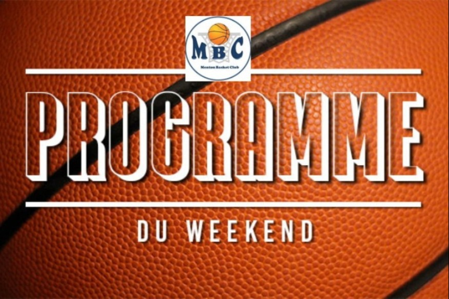 Menton Basket Club programme week-end du 29 au 30 novembre 2019