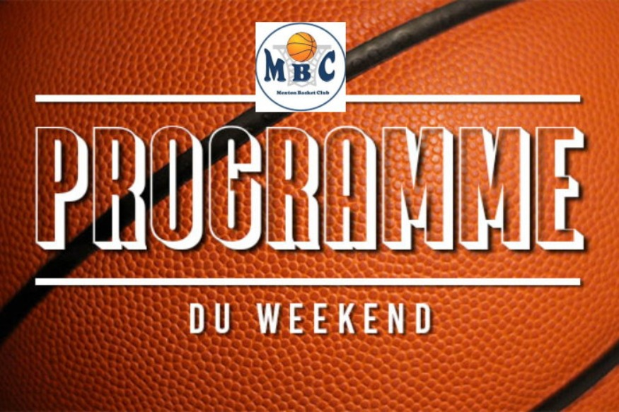 Menton Basket Club programme  week-end du 17 au 18 Janvier 2020